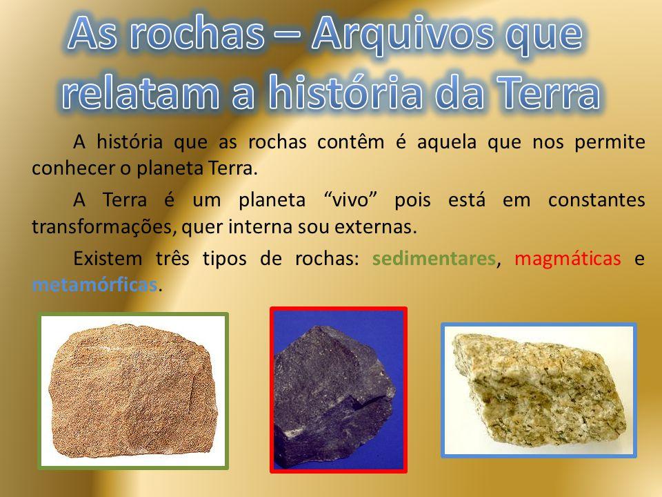 As rochas – Arquivos que relatam a história da Terra