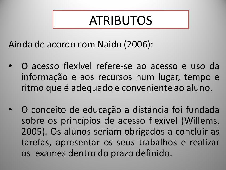 Atributos Ainda de acordo com Naidu (2006):