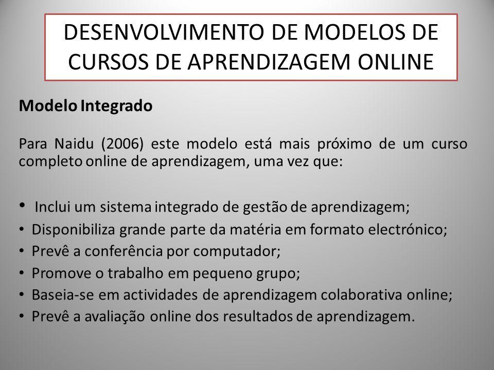 Desenvolvimento de Modelos de Cursos de Aprendizagem Online