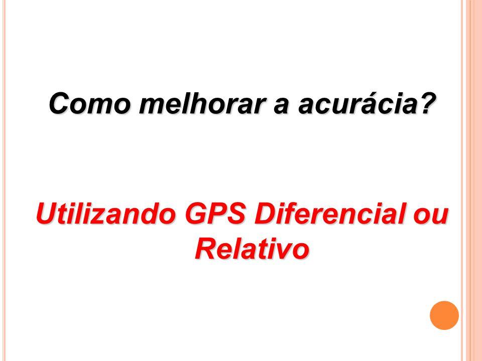 Como melhorar a acurácia Utilizando GPS Diferencial ou Relativo
