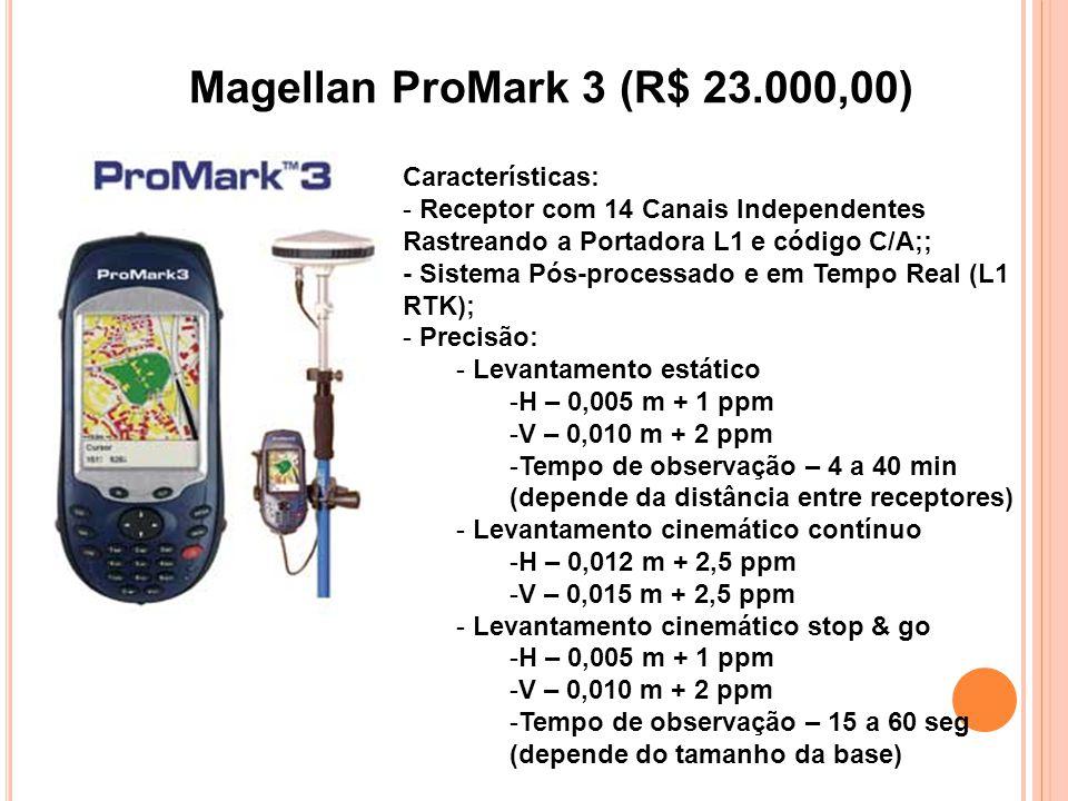Magellan ProMark 3 (R$ 23.000,00) Características: