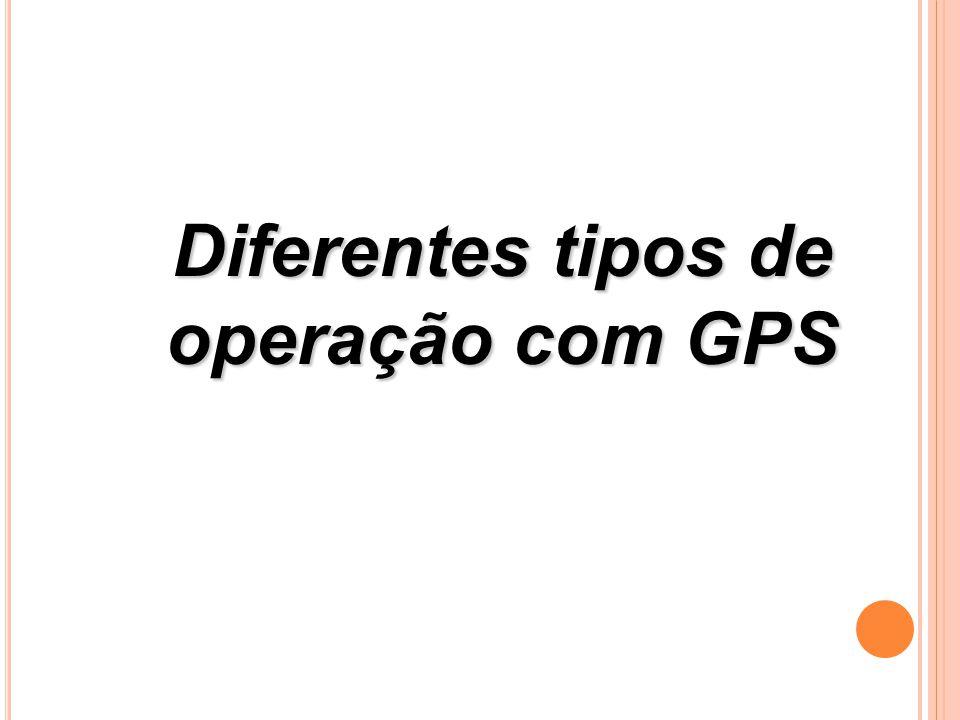 Diferentes tipos de operação com GPS