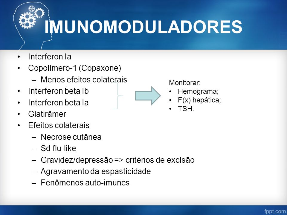 IMUNOMODULADORES Interferon Ia Copolímero-1 (Copaxone)