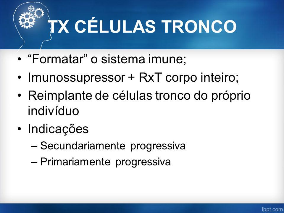 TX CÉLULAS TRONCO Formatar o sistema imune;