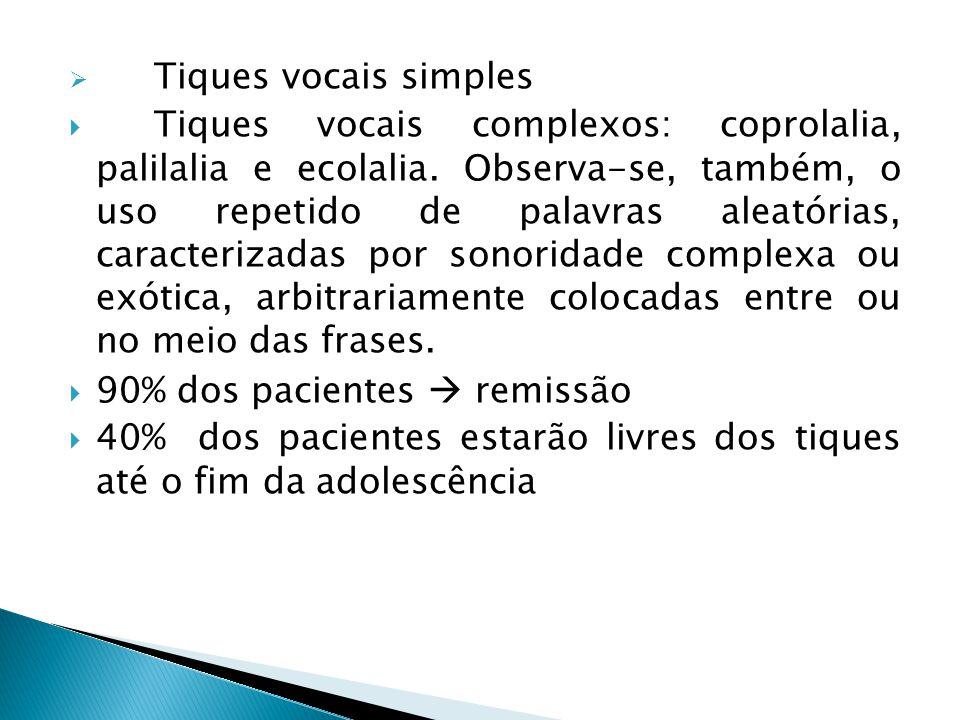 Tiques vocais simples
