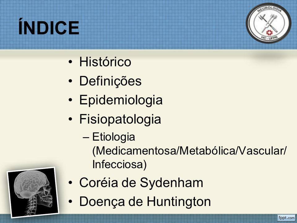 ÍNDICE Histórico Definições Epidemiologia Fisiopatologia