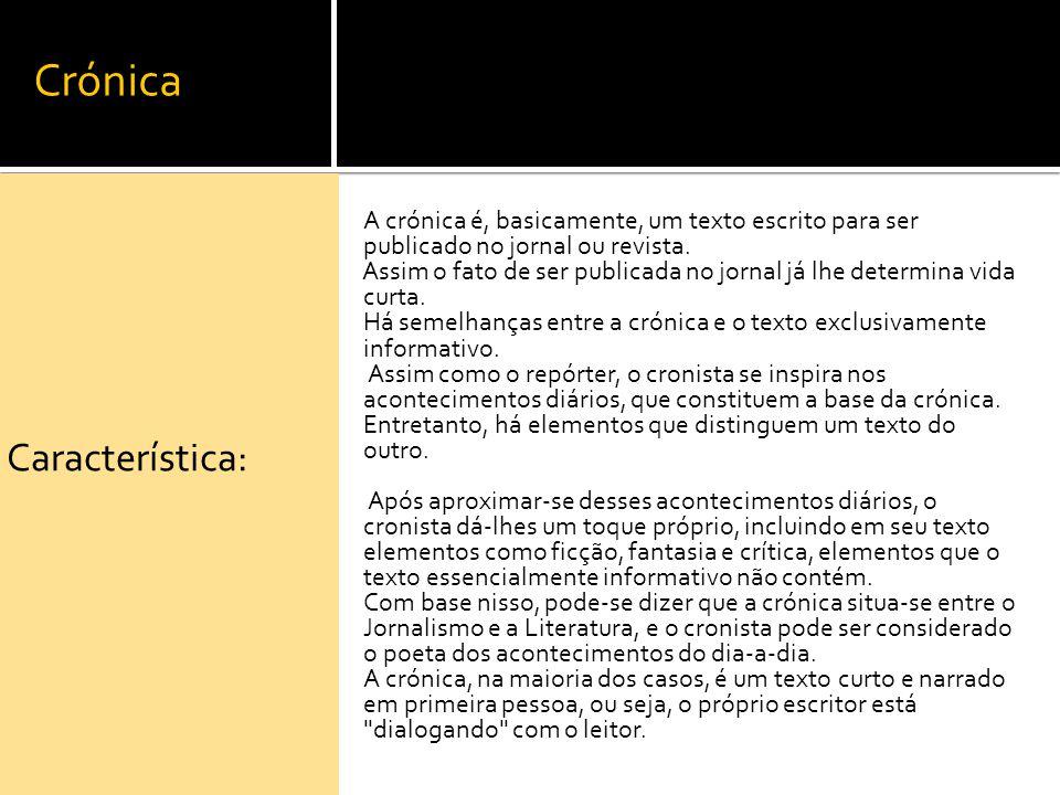 Crónica Característica: