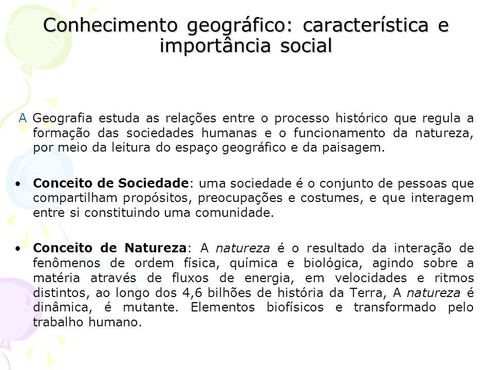 Conhecimento geográfico: característica e importância social