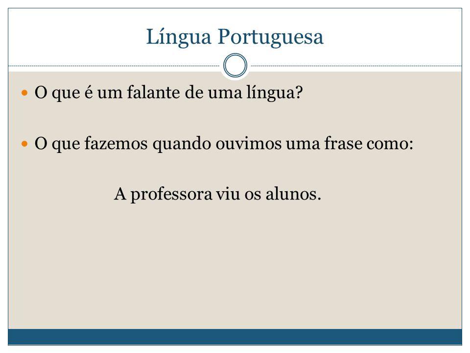 Língua Portuguesa O que é um falante de uma língua