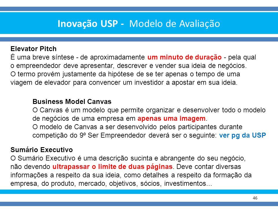 Inovação USP - Modelo de Avaliação