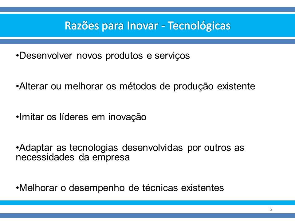 Razões para Inovar - Tecnológicas