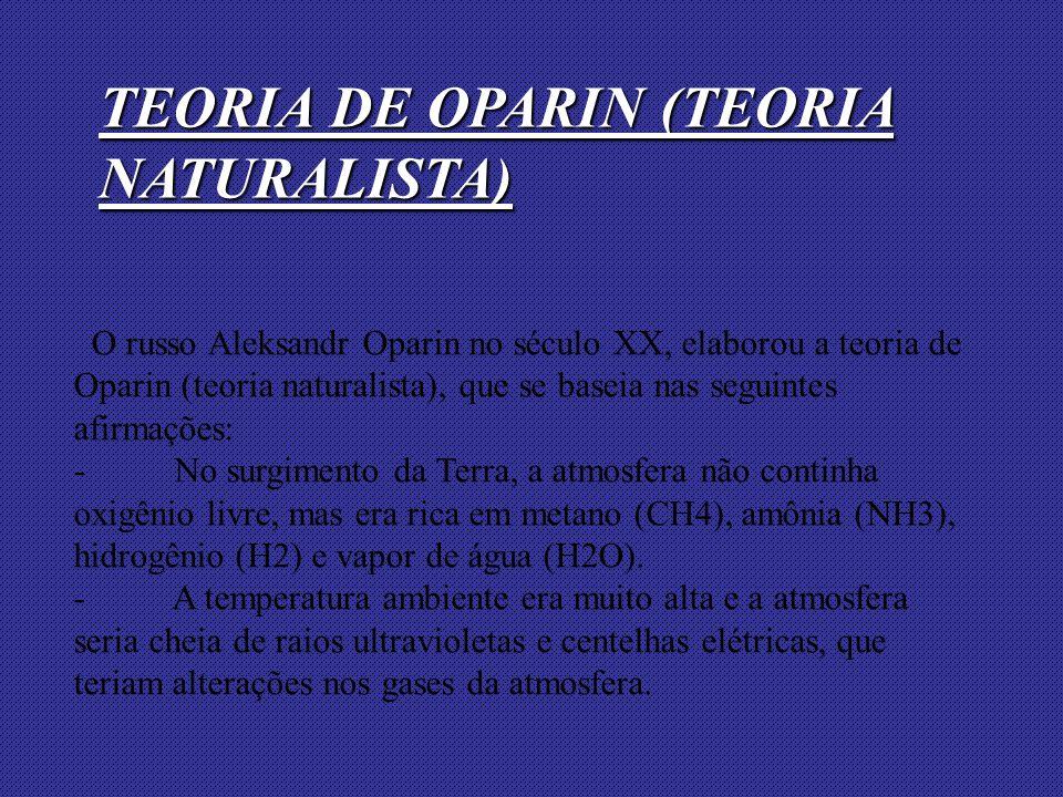 TEORIA DE OPARIN (TEORIA NATURALISTA)