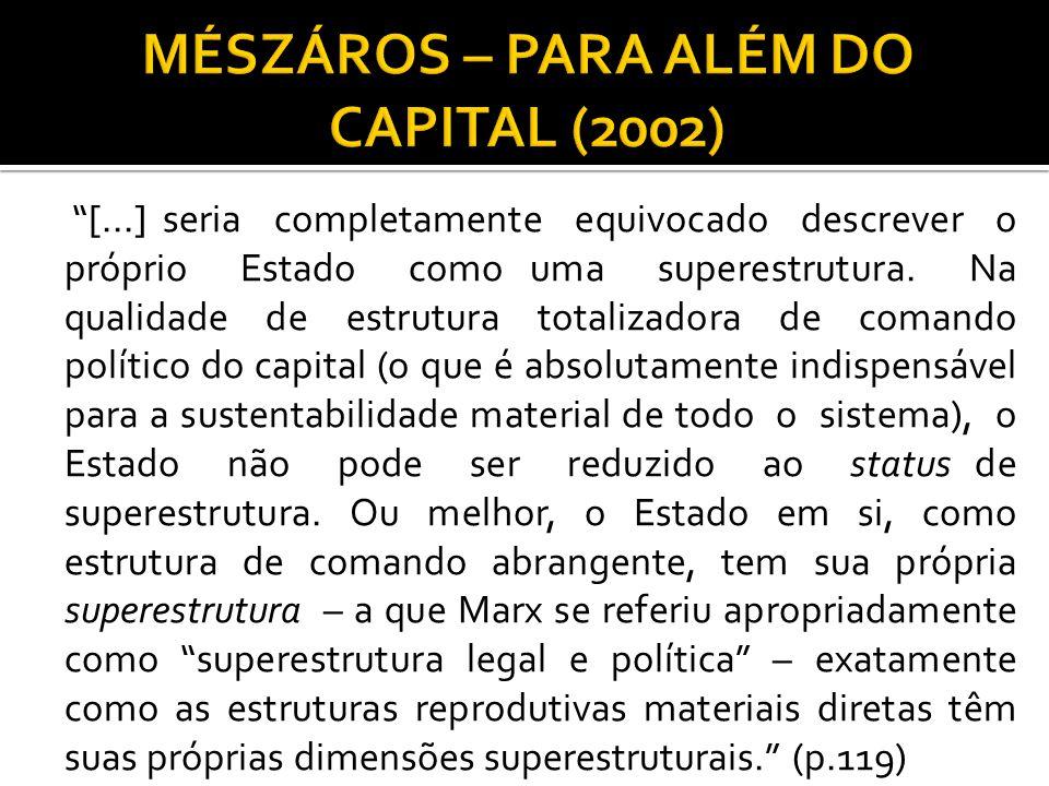 MÉSZÁROS – PARA ALÉM DO CAPITAL (2002)