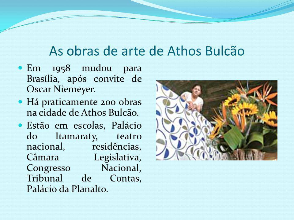 As obras de arte de Athos Bulcão