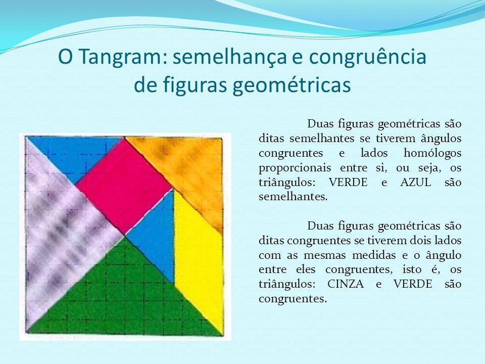 O Tangram: semelhança e congruência de figuras geométricas