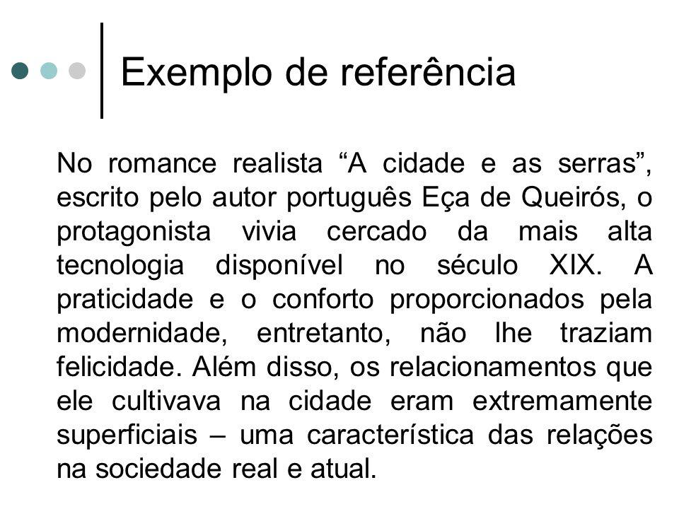 Exemplo de referência