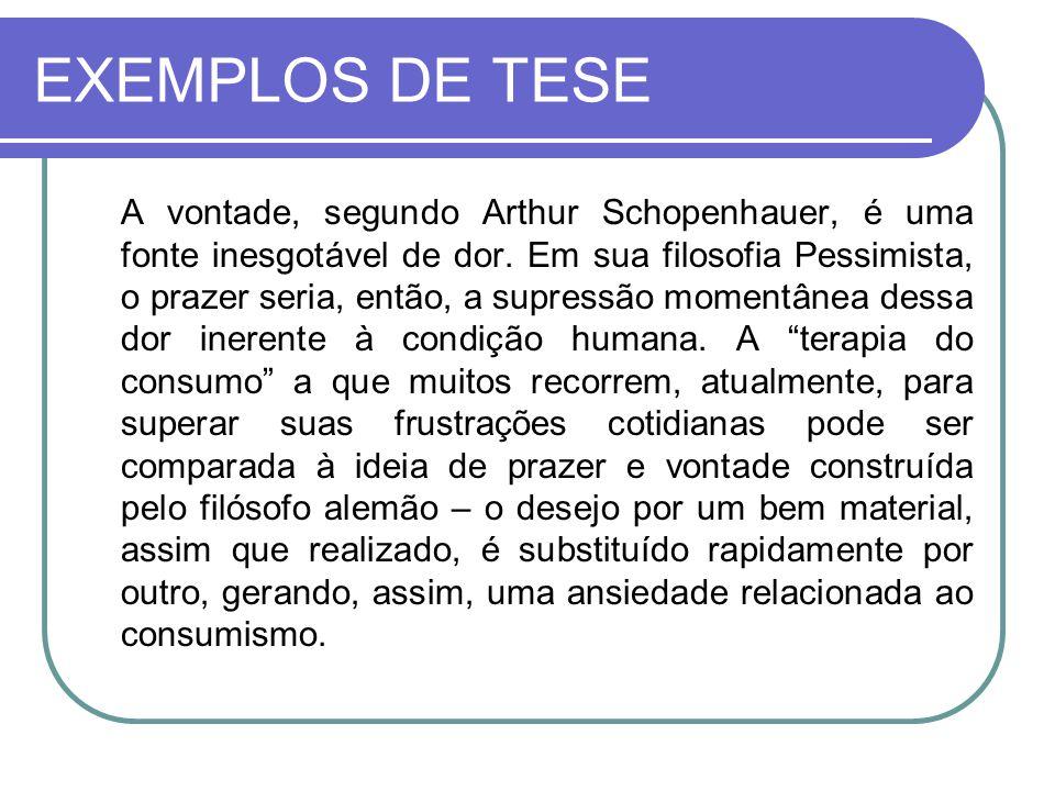 EXEMPLOS DE TESE