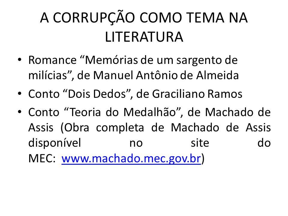 A CORRUPÇÃO COMO TEMA NA LITERATURA