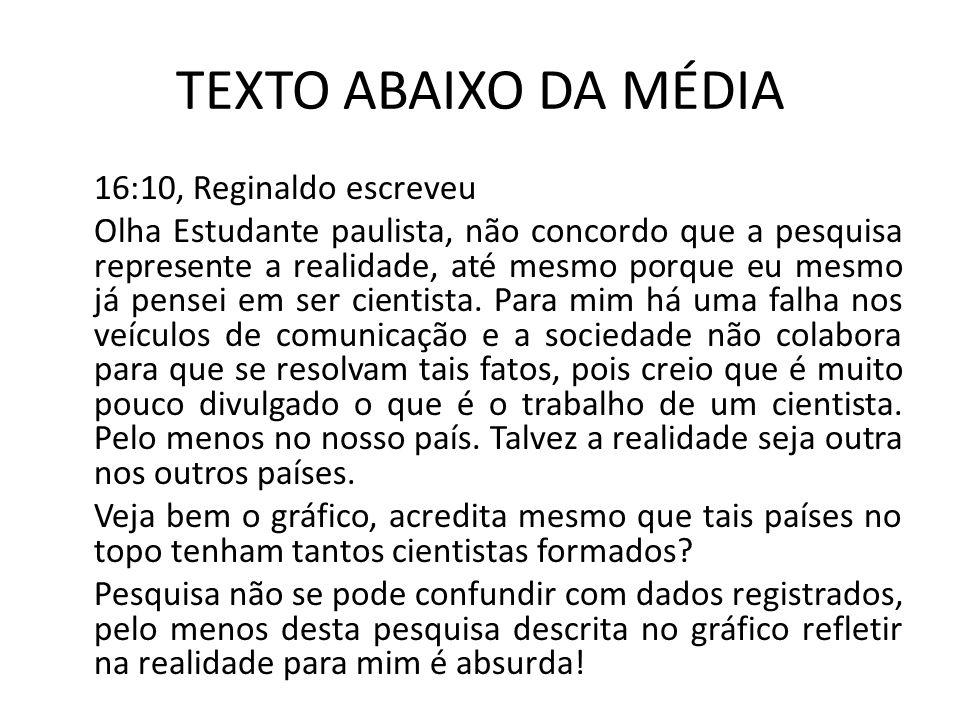 TEXTO ABAIXO DA MÉDIA