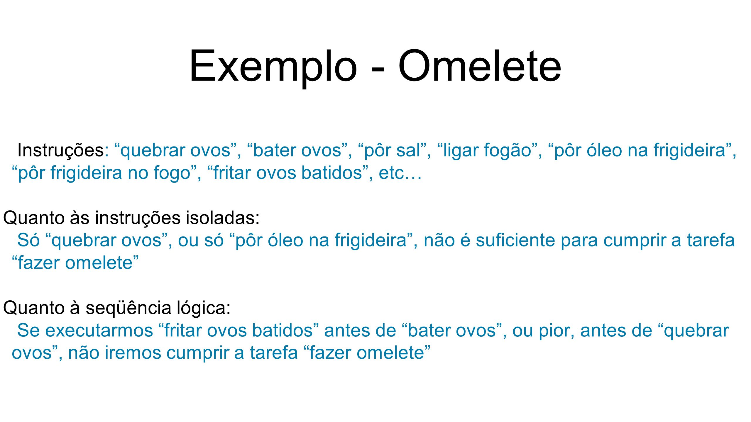 Exemplo - Omelete