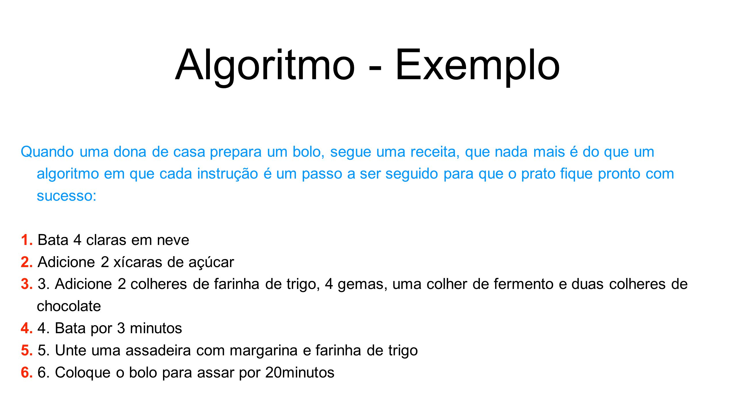 Algoritmo - Exemplo