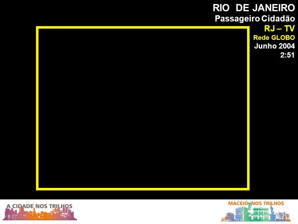 RIO DE JANEIRO Passageiro Cidadão RJ – TV Rede GLOBO Junho 2004 2:51