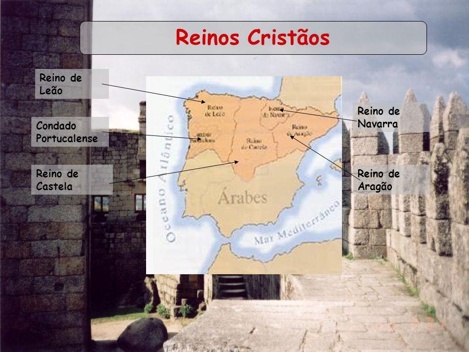 Reinos Cristãos Reino de Leão Reino de Navarra Condado Portucalense