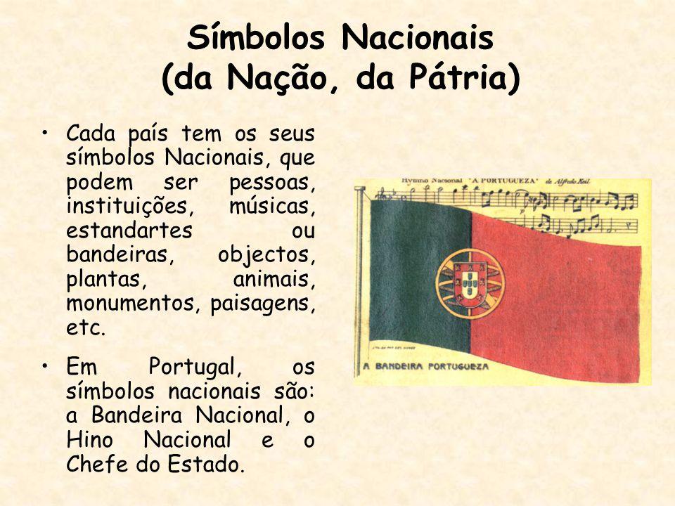Símbolos Nacionais (da Nação, da Pátria)