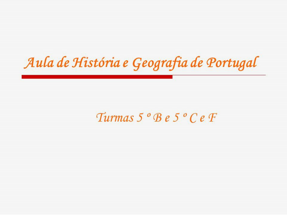 Aula de História e Geografia de Portugal