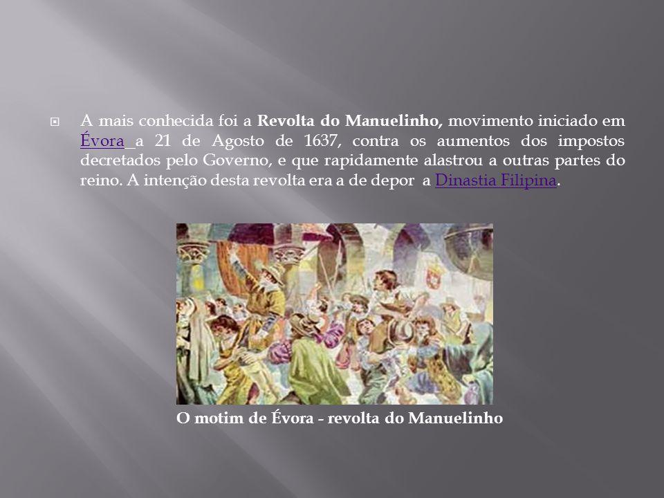 O motim de Évora - revolta do Manuelinho
