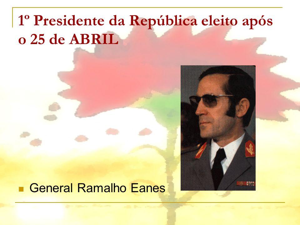 1º Presidente da República eleito após o 25 de ABRIL