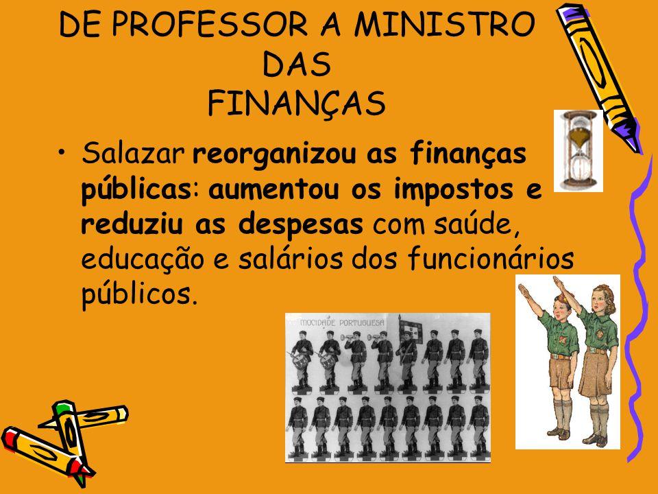 DE PROFESSOR A MINISTRO DAS FINANÇAS