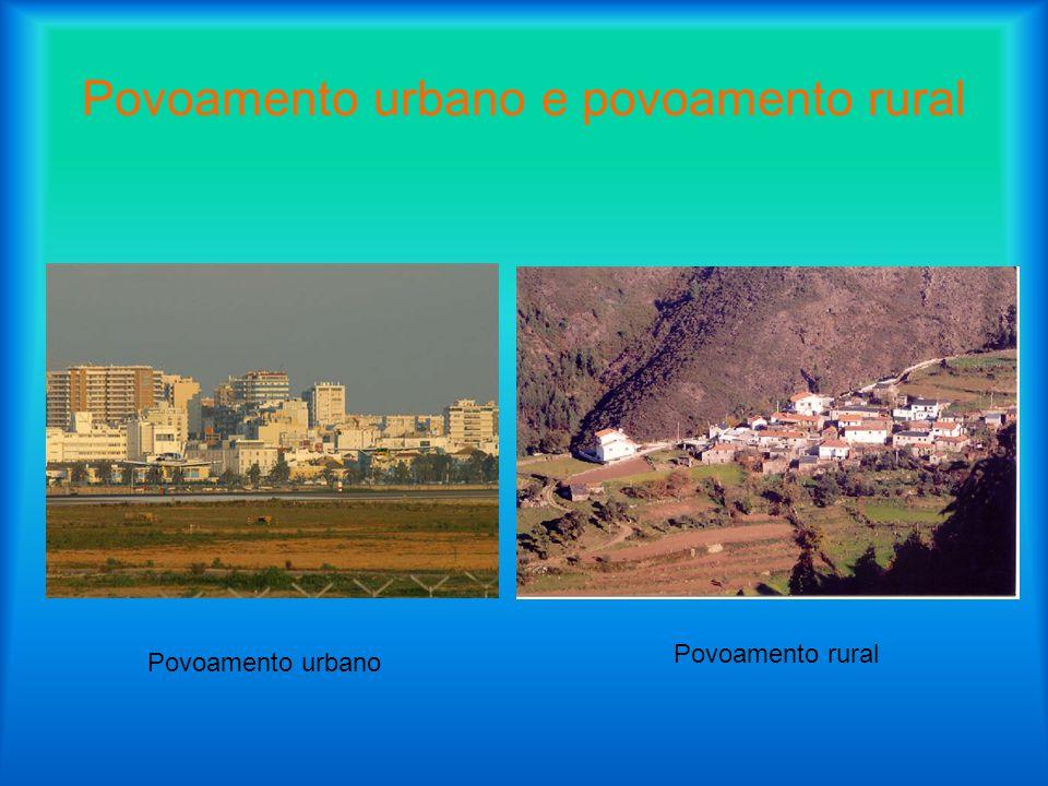 Povoamento urbano e povoamento rural