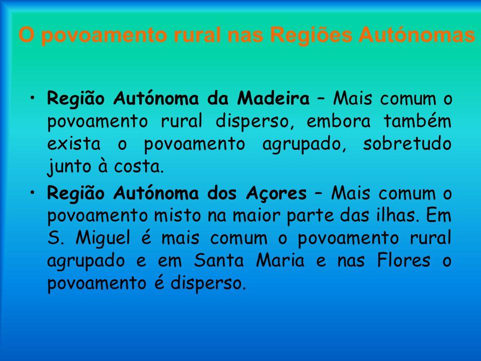O povoamento rural nas Regiões Autónomas