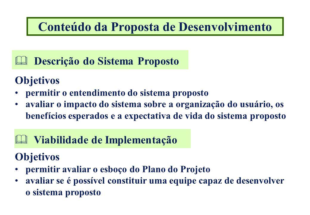 Conteúdo da Proposta de Desenvolvimento