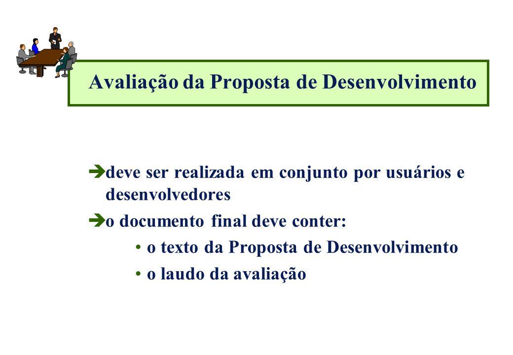Avaliação da Proposta de Desenvolvimento