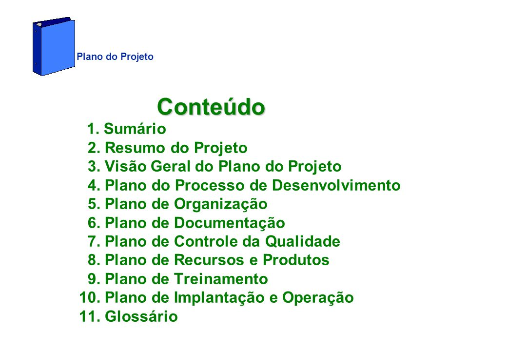 Plano do Projeto Conteúdo.