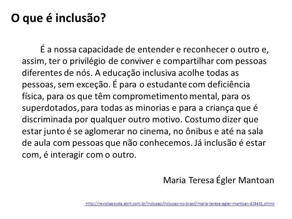 O que é inclusão