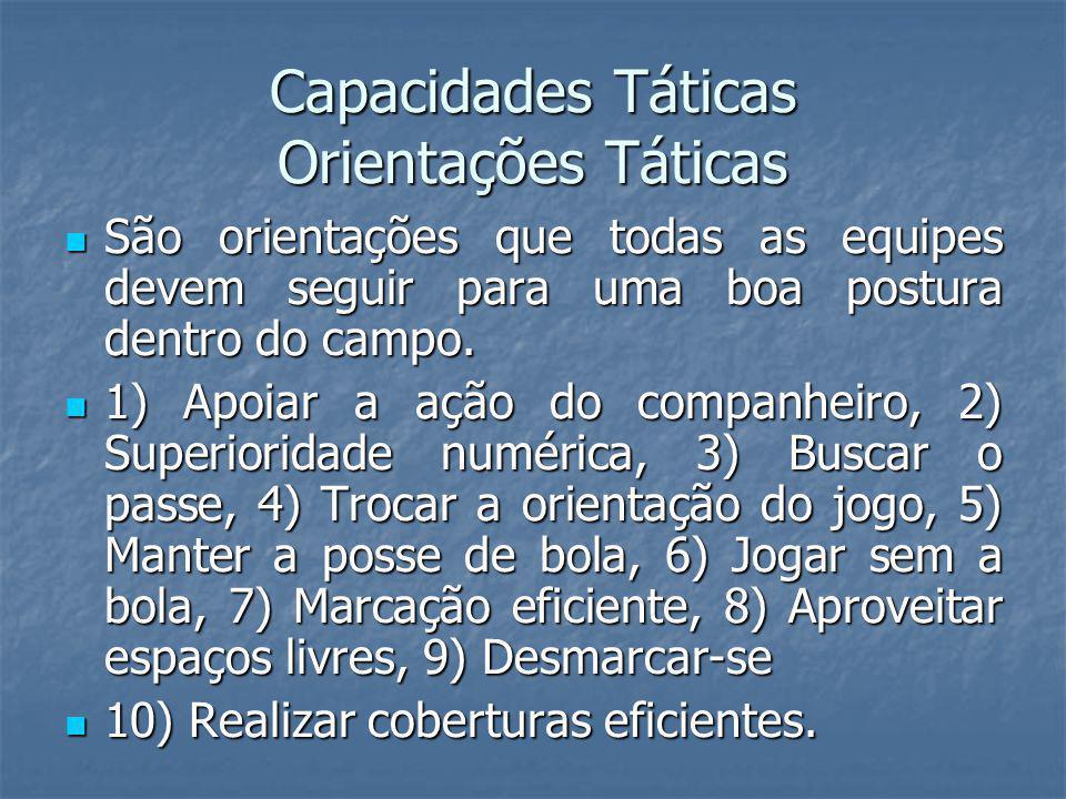 Capacidades Táticas Orientações Táticas