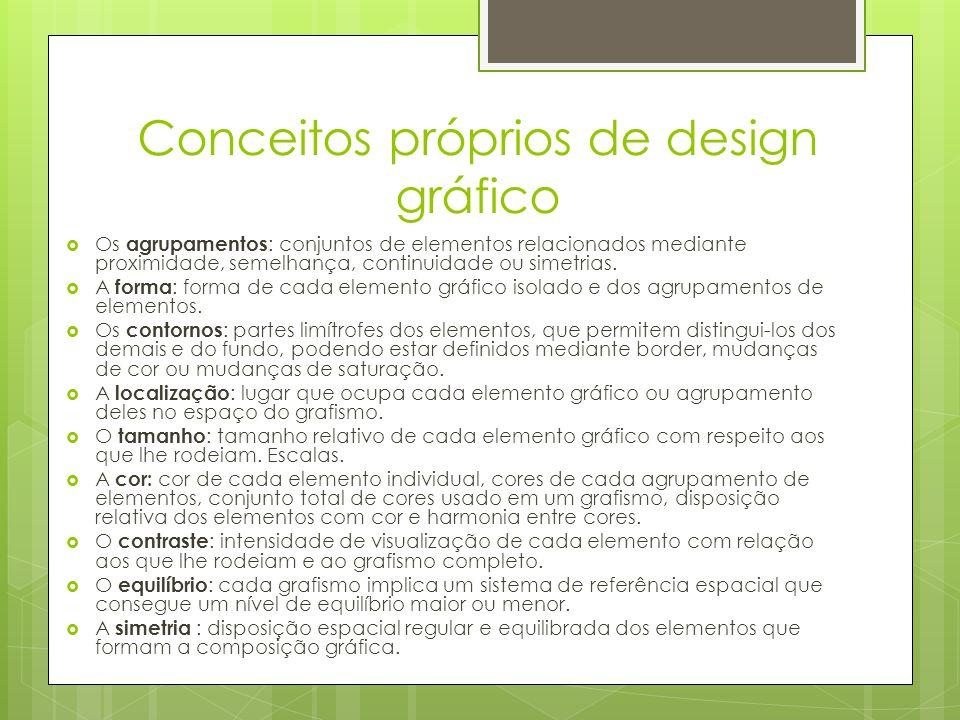 Conceitos próprios de design gráfico