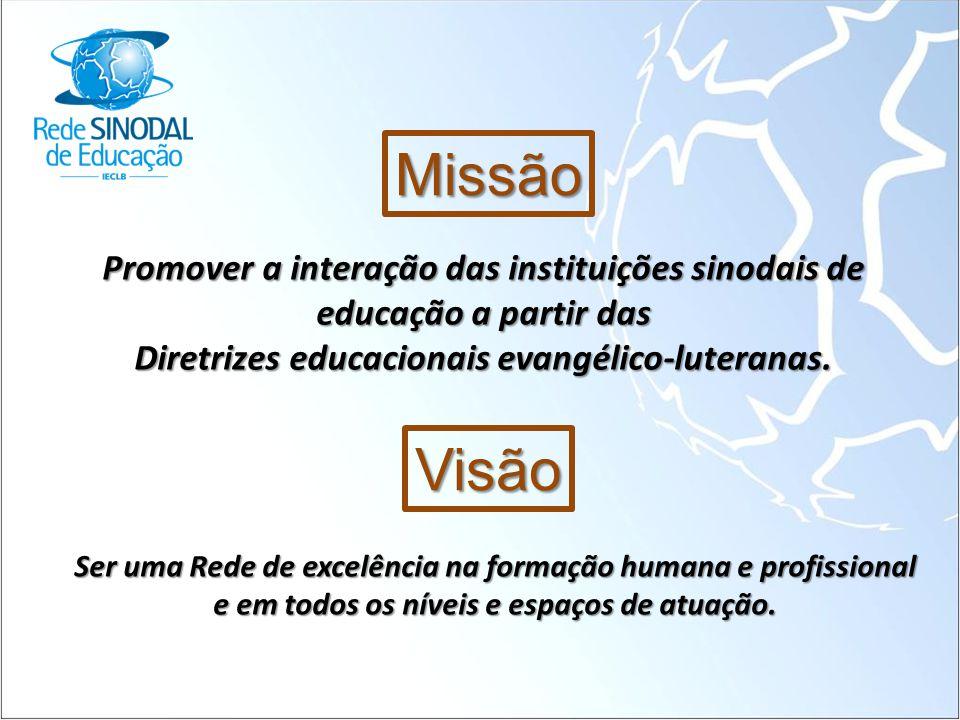 Missão Promover a interação das instituições sinodais de educação a partir das. Diretrizes educacionais evangélico-luteranas.