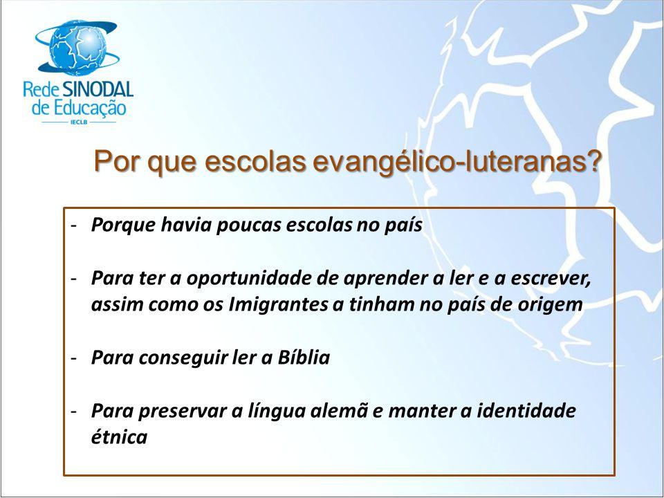 Por que escolas evangélico-luteranas