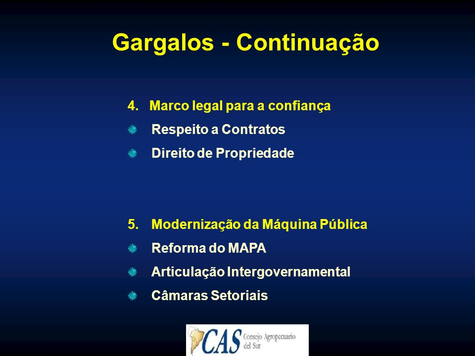 Gargalos - Continuação