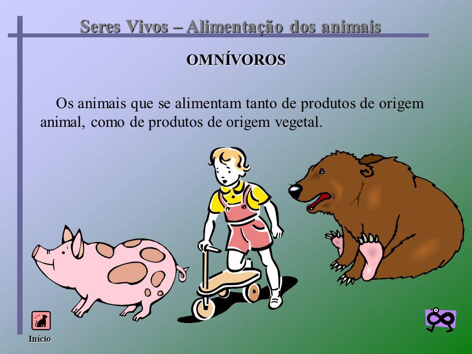 Seres Vivos – Alimentação dos animais