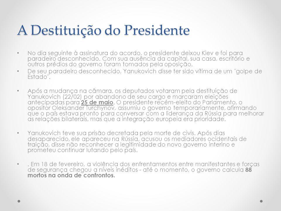A Destituição do Presidente