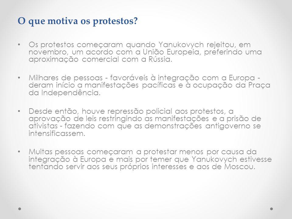 O que motiva os protestos