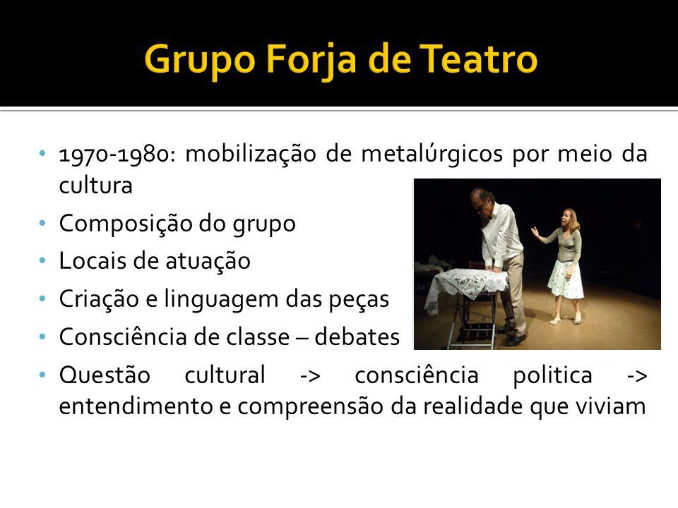 Grupo Forja de Teatro 1970-1980: mobilização de metalúrgicos por meio da cultura. Composição do grupo.