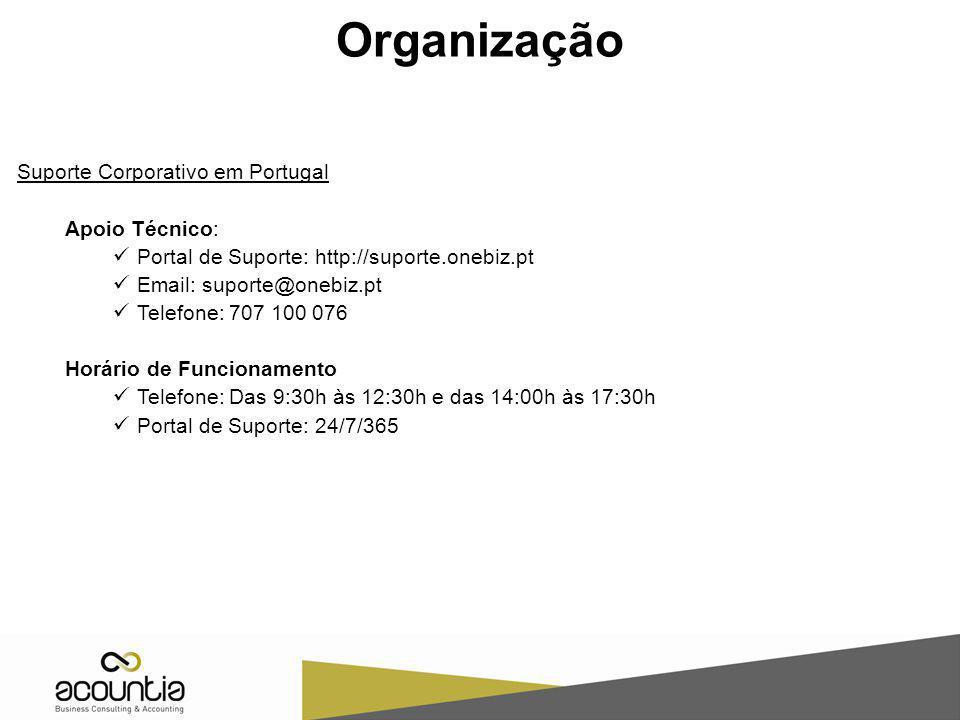 Organização Suporte Corporativo em Portugal Apoio Técnico: