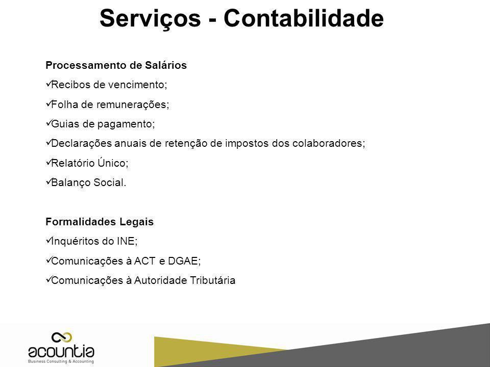 Serviços - Contabilidade