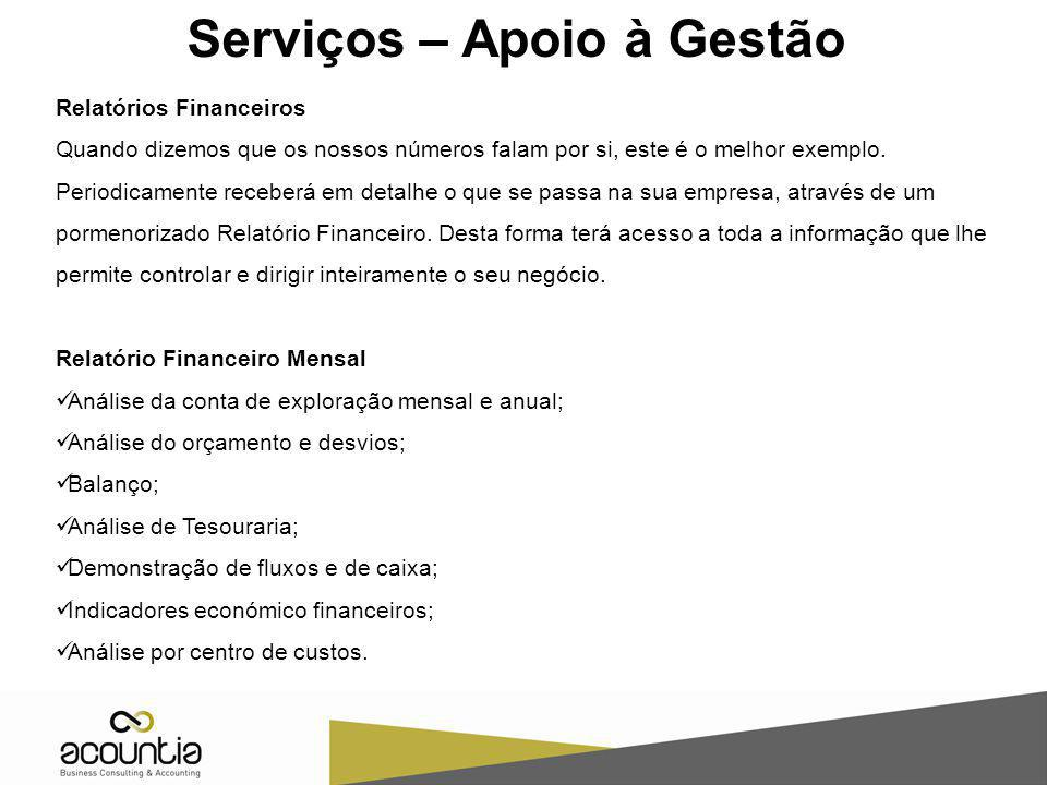 Serviços – Apoio à Gestão